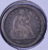 1841-O 10C SEATED LIBERTY DIME - VG