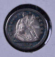 ERROR/TONED 1852 10C SEATED LIBERTY DIME - UNC