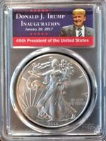 2018 1OZ SILVER EAGLE  PCGS MS70 - FIRST STRIKE - DONALD TRUMP INAUGURATION