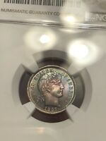 1897 NGC MINT STATE 62 MONSTER TONED BARBER DIME ASK FOR A VIDEO THIS IS A STUNNER
