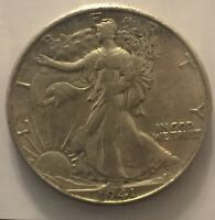 1941-D 50C WALKING LIBERTY HALF DOLLAR AU CW0028