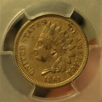 1861  PCGS  EXTRA FINE  40  INDIAN HEAD CENT,  LISTED AT $100.00