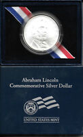 2009 ABRAHAM LINCOLN UNCIRCULATED SILVER DOLLAR IN PACKAGE & COA   1898
