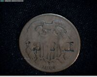 1864 2 CENT PIECE COUNTERSTAMPED  P & S  3583