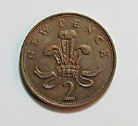GREAT BRITAIN 2 NEW PENCE 1981   FREE DOMESTIC SHIPPING