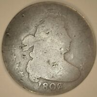 1802 JR-4 DRAPED BUST DIME IN GOOD CONDITION - R-4 DIE VARIETY
