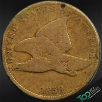 1858  1 SMALL LETTERS FLYING EAGLE CENT  VG  GOOD  2020JU1