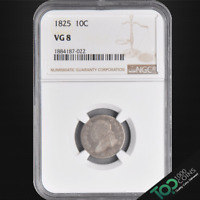 1825  10  CAPPED BUST DIME  NGC VG8    GOOD  1884187-022