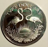 BAHAMAS   $2 TWO DOLLAR PROOF 1975