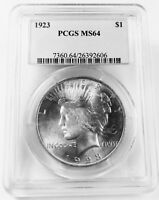 PEACE DOLLAR 1923 PCGS MS64