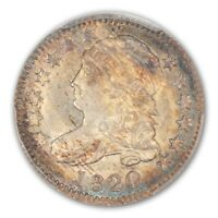 1820 10C SMALL 0 JR-5 CAPPED BUST DIME PCGS MINT STATE 65