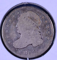 1829 10C CAPPED BUST DIME CLEANED - G