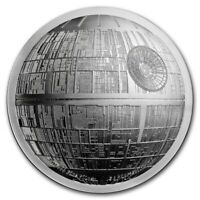 NIUE  2018   SILVER $5 PROOF  COIN  2 OZ  SILVER STAR WARS  DEATH STAR