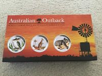 AUSTRALIA 2012 OUTBACK COLLECTION 3X 1/2OZ SILVER COIN KANGAROO KOALA KOOKABURRA