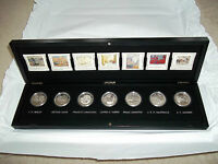 CANADA GROUP OF SEVEN/7 SILVER COIN COLLECTION W/ WOODEN CASE STORMY WEATHER