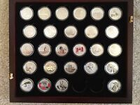 CANADA COMPLETE COLLECTION OF $20 & $25 FACE VALUE COINS   26 SILVER COINS MAPLE