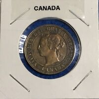 1897 CANADA LARGE CENT   VERY PLEASING RED/BROWN HIGHER GRADE EXAMPLE