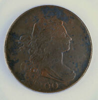 1800 DRAPED BUST LARGE CENT ANACS VF20 CORRODED 6263605