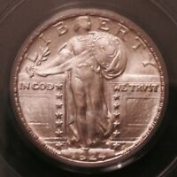 1924 D STANDING LIBERTY QUARTER 25 CENTS PCGS MINT STATE 66 OGH