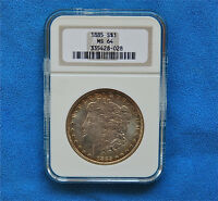 1885 MINT STATE 64 MORGAN DOLLAR  GRADED BY NGC  0.900 SILVER