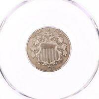 1880 SHIELD 5C PCGS CERTIFIED EXTRA FINE  DETAILS CLEANED