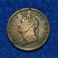 1832 CANADA NOVA SCOTIA HALF PENNY TOKEN   NICE CIRCULATED SPECIMEN