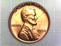 1954-P BU LINCOLN WHEAT CENT PENNY COIN H12