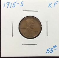 1915-S LINCOLN CENT IN EXTRA FINE  CONDITION