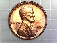 1954-P BU LINCOLN WHEAT CENT PENNY COIN H9
