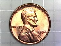 1954-P BU LINCOLN WHEAT CENT PENNY COIN H10