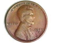 1929-D LINCOLN WHEAT CENT PENNY COIN A38