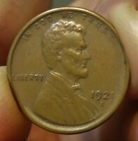 1921-S  LINCOLN WHEAT CENT,  LOOKS IN THE LOWER AU AREA.