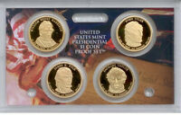 2009-S PRESIDENTIAL PROOF GOLDEN DOLLARS   4 CAMEO COINS  AA1