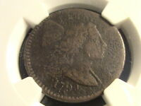 1794 LARGE CENT, NGC VF DETAILS, CORROSION, TOUGH EARLY DATE REDUCED  G1262