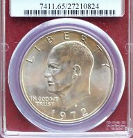 1972-S EISENHOWER SILVER DOLLAR PCGS MINT STATE 65