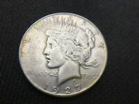 1927 S  PEACE  DOLLAR   VF EXTRA FINE      3 OR MORE SHIPS FREE   90SILVER   LOT 999