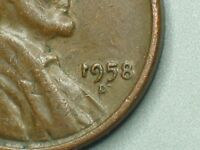 1958-D  LINCOLN WHEAT CENT REVERSED NUMBER ONE ERROR