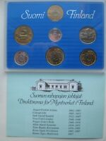 FINLAND 1990 OFFICIAL COIN MINT SET KMS UNC CONDITION