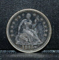 1845-P SEATED 1/2 HALF DIME  EXTRA FINE  EXTRA FINE   NOW TYPE  TRUSTED
