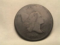 1797  LIBERTY CAP HALF CENT.  C-1, R2, 1 ABOVE 1