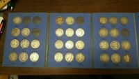 NEAR COMPLETE 1892 1903 BARBER HALF DOLLAR DATE SET     W/ K