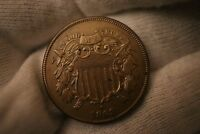 1869 TWO CENT PIECE  KEY DATE LOW MINTAGE IN GEM PROOF PF CONDITION