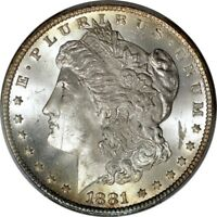 1881 CC $1 SILVER MORGAN DOLLAR PCGS MS64
