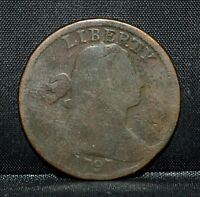 1797 LARGE CENT  AG ABOUT GOOD DETAIL  1C DRAPED BUST CIRCULATED TRUSTED