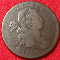 1800 DRAPED BUST LARGE CENT CHOICE FINE TO VF S-205 R.4 EARLY COPPER 1C VARIETY