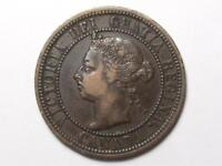 1890 H CANADIAN LARGE PENNY QUEEN VICTORIA LOT B2