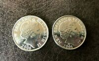 2006    LOT OF 2  NEW ZEALAND   50 CENT COINS   ENDEAVOUR