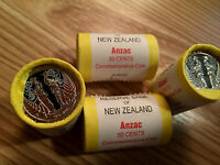 NZ/AU 2015 ANZAC 1 ROLL COINS COMMEMORATIVE COINS