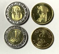 EGYPT 2010 KING TUT & CLEOPATRA UNCIRCULATED 2 COINS