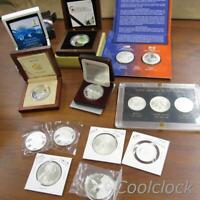 WORLD WIDE SILVER COIN COLLECTION COMMEMORATIVE ETC. LOT   Y